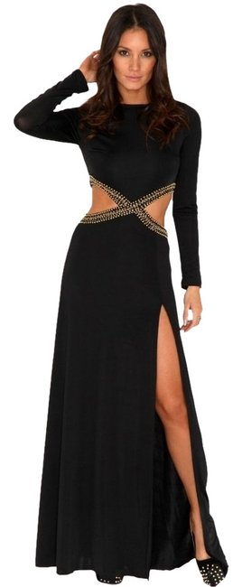 Missguided Maxi Evening Sexy Cut-out Dress