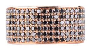 Black Diamond Micro-pave Band in 18K Pink Gold