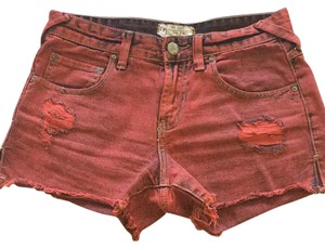 Free People Cut Off Shorts Red