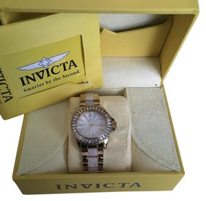 Invicta- Mother of Pearl crystal watch
