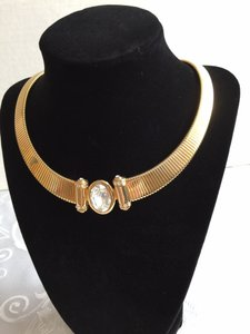 Crystal Gold-Tone Collar Necklace