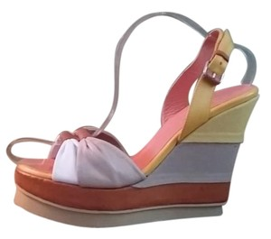 Philosophy di Alberta Ferretti Gold orange Wedges