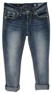 Miss Me Jes380ep Easy Capri Distressed Embellished Capri/Cropped Denim-Distressed