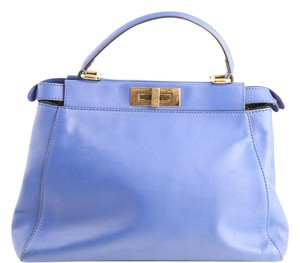 Fendi Suede Lining Tote in blue