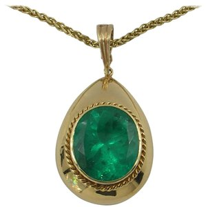 Gem Emerald Gold Pendant