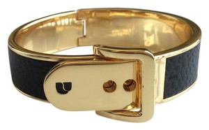 Parker Daniels Metallic Leather Gold Buckle Bracelet