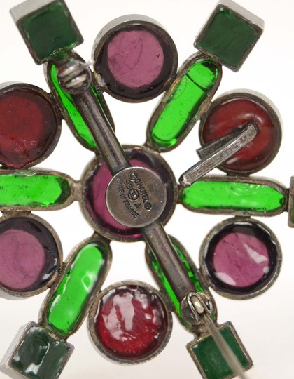 Chanel Chanel Vintage '93 Red & Green Gripoix Cluster Star Brooch