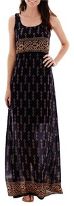 Maxi Dress by Navy/Brown maxi