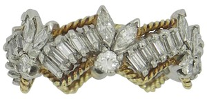 Other Diamond Gold Platinum Band Ring