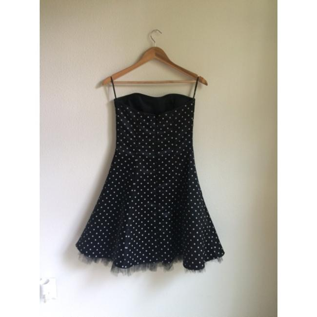 Jessica McClintock Strapless A-line Party Polka Dot Dress