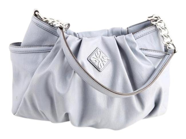 Item - * Simply Alicia Chain Link Pleated Lavender Leather/Silk Lining Hobo Bag