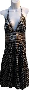 Alyn Paige short dress black and white on Tradesy
