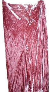 J. Jill Elastic Stretchy Maxi Skirt Winterberry Burgundy Crushed