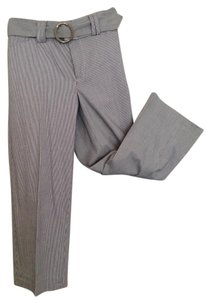 Rafaella Crop Grey Belted Capris Grey/White Stripe