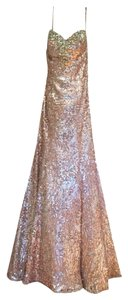 Regiss Prom Gold Sequins Pageant Dress