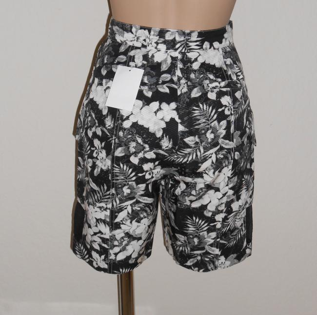 Alexander Wang Floral Cargo Shorts Black/white