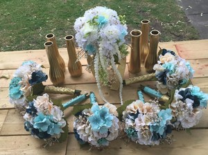 Bridal Bouquets - Set Of 7 - Hand Made