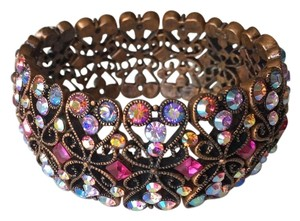 Joan Rivers Multi Colored Crystal Stretch Bronze Design