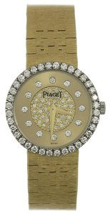 Piaget Piaget Lady's Yellow Gold Diamond Dial and Bezel Quartz Wristwatch