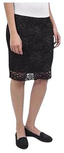 Eileen Fisher Short Elastic Waist Mini Skirt Black