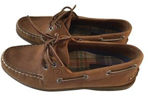 Sperry Top Sider Leather Brown Flats