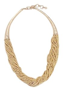 Lucky Brand BRAND NEW! Lucky Brand Gold-Tone Beaded Collar Necklace