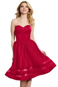 Alfred Angelo Cherry 7368s Modern Bridesmaid/Mob Dress Size 8 (M)