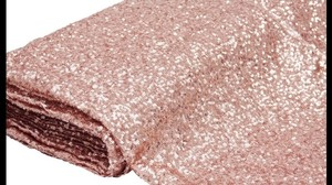 20 Yards Rose Gold Sequins Fabric