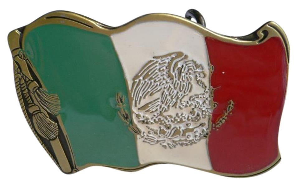Green White Red Men Women Eagle Snake Mexican Flag Buckle Belt 47 Off Retail