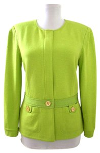 St. John Cardigan Lime Sweater