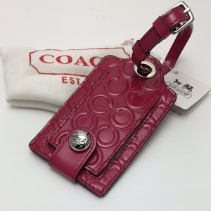 Coach Coach Patent Leather Embossed Logo Luggage Tag