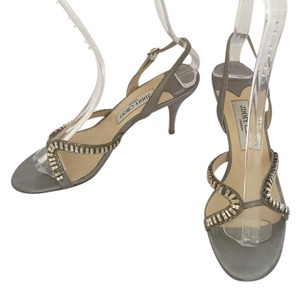 Jimmy Choo Leather Formal Party Gray Sandals
