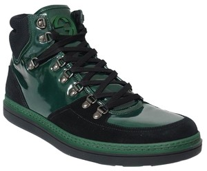 Gucci Mens High Top Sneaker Green Athletic