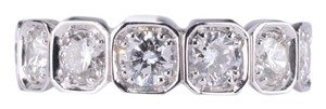 Other 14-Karat White Gold 3.90 Carat Basel-Set Octagonal Diamond Wedding Ban