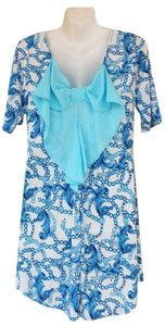 short dress blue, white Back Bow Tunic Blue on Tradesy