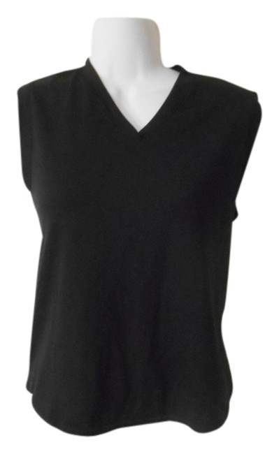lucy Performance Lucy Black V-neck Sleeveless Top Large 12 14