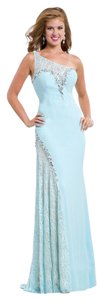 Party Time Formals Jersey Fitted Prom Lace Dress