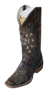 Dusty Rocker Cowboy Leather Brown Boots