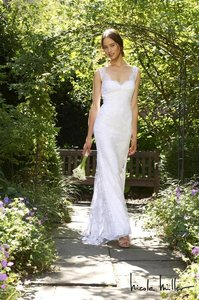 Nicole Miller Bridal Brooke Lace Bridal Wedding Dress Size 12 $2005 Jc0001 / Jc90001 Wedding Dress