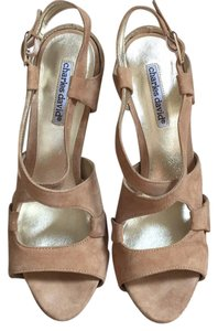 Charles David Pump Sandal Casual Tan Platforms