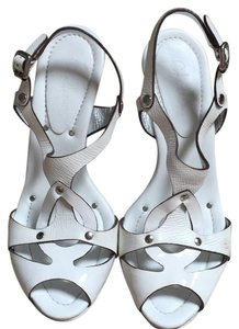 Cole Haan Pump Sandal White Platforms