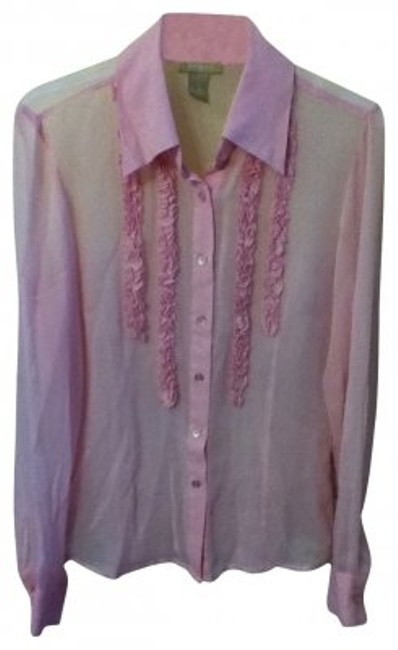 Preload https://item4.tradesy.com/images/forever-21-pink-blouse-size-8-m-16978-0-0.jpg?width=400&height=650