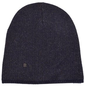 Gucci New Gucci 352350 Men's Blue Beige Wool Cashmere Beanie Ski Winter Hat MEDIUM