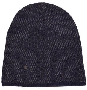Gucci New Gucci 352350 Men's Blue Beige Wool Cashmere Beanie Ski Winter Hat LARGE