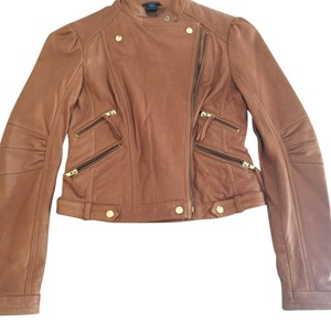 Moda International Tan Leather Jacket