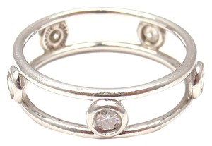 Tiffany & Co. TIFFANY & Co. PERETTI PLATINUM DIAMOND BY THE YARD DOUBLE WIRE RING sz 6.5