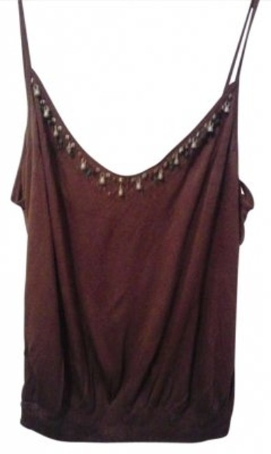 Preload https://item2.tradesy.com/images/express-brownbeaded-tank-topcami-size-14-l-169791-0-0.jpg?width=400&height=650