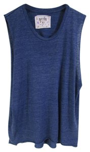 Nation LTD Solid Muscle Sleeveless Top Blue