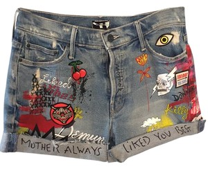 Mother Cut Off Shorts Denim blue