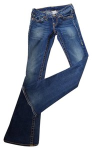 True Religion Distressed Boot Cut Jeans-Distressed